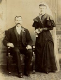 Wedding portrait of Nicholas and Mary (Wester) Klein